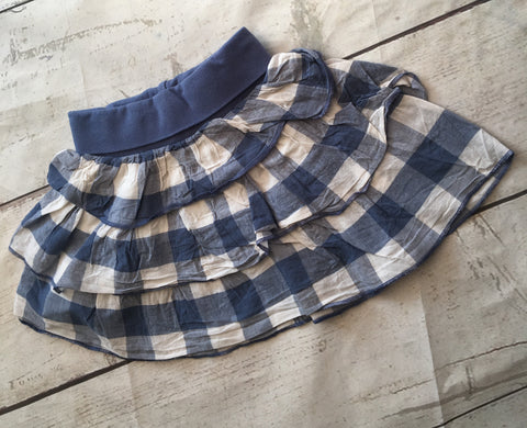 3-6 Months Checked Skirt