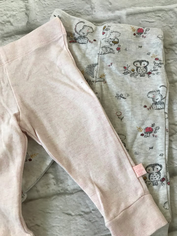 3-6 Months 3 Pairs Girls Bottoms.    6