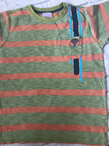 Age 12-13 Green Striped Fat Face Tshirt