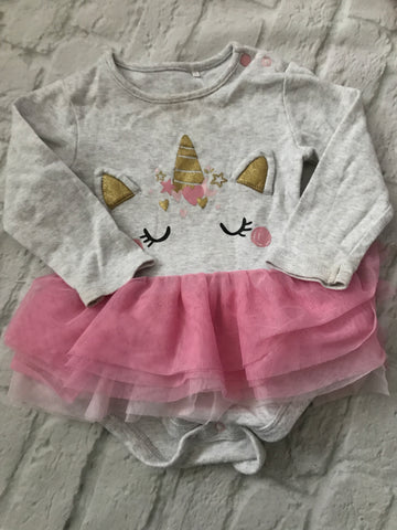 12-18 Month Unicorn TuTu Bodysuit