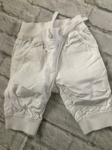 12-18 months White Cuffed Trousers