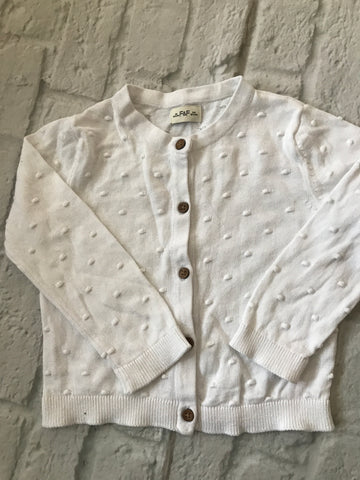 18-24 Month White Cardigan