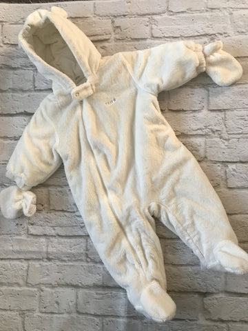 3-6 months white Thick Next Snowsuit