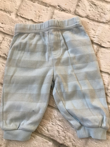0-3 months Blue & Grey Striped Joggers
