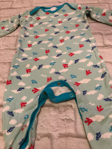 12-18 Months Blue Areoplane Sleepsuit