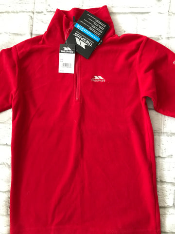 NEW Age 9-10 Red Trespass Fleece
