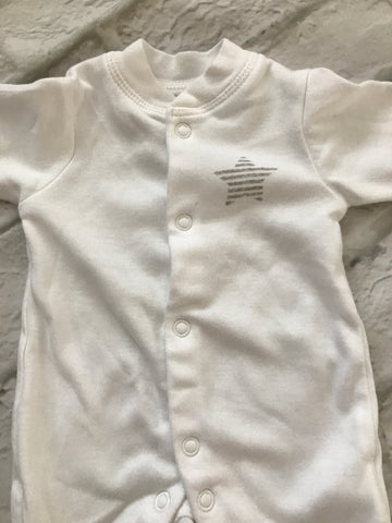Early Baby White Sleepsuit