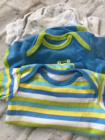 Tiny Baby 3 x boys vests        16