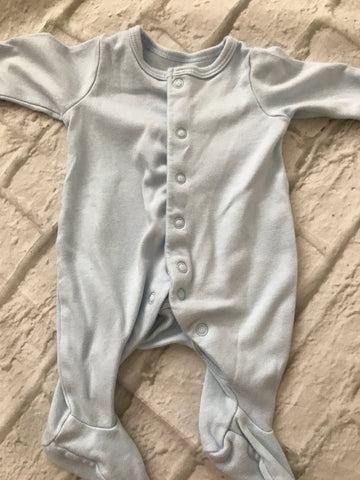 Tiny Baby Blue Sleepsuit