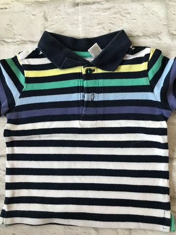 6-9 months striped Polo Shirt