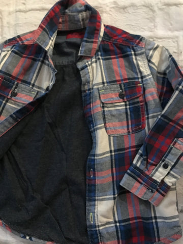 Age 4 Next lined checked long sleeve shirt