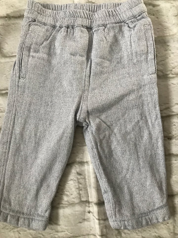 6-9 Months Grey Lined Trousers