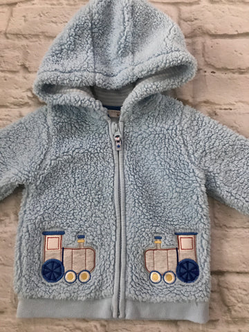 Age 9-12 Blue Fluffy Coat