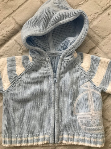 First Size Zipped Hooded Cardigan