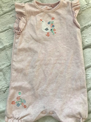 9-12 Month Next Pink Embroidered Romper