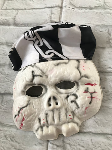 Age 8-11 Skeleton Pirate Mask