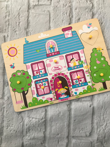 Rose Cottage Wooden Puzzle