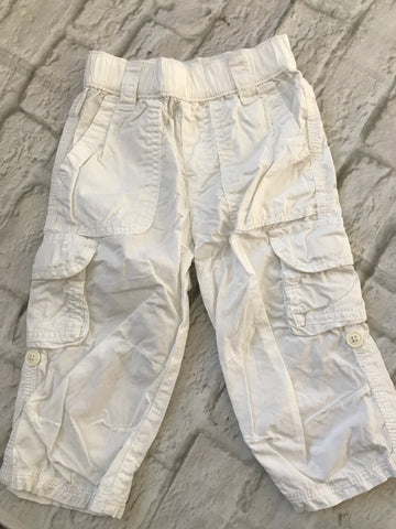 12 - 18  Months white Next Trousers