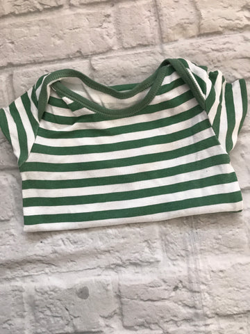 12-18 month green striped Bodysuit