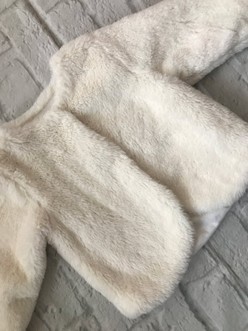 12-18 Month White Fur Coat
