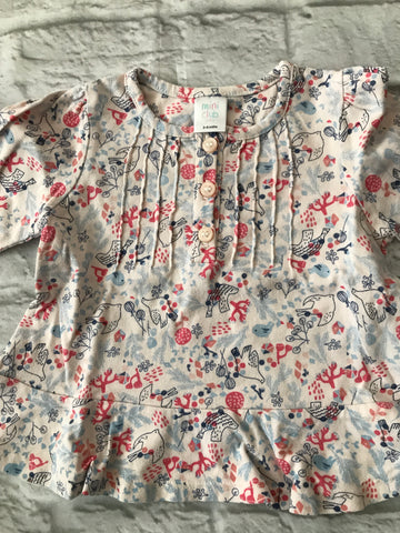 3-6 months floral long sleeve top
