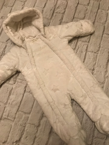6-9 Months White Snowsuit