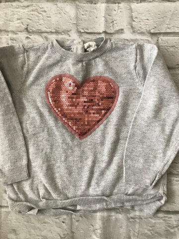 12-18 months grey heart jumper