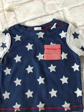 3-6 Months Navy long sleeve Top