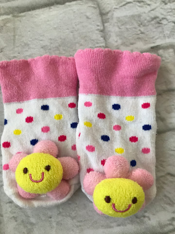 0-6 Months Sunflower Socks