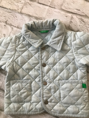 9 months Blue Quilted Benetton Coat