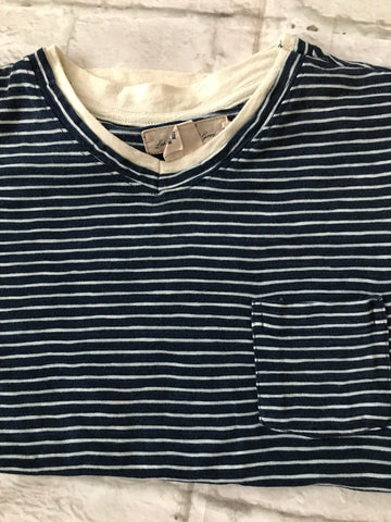 Age 10-12 Navy Striped H&M Tshirt