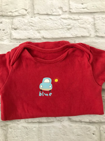 Age 3-6 Months red short Sleeve Bodysuit