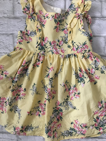 12-18 months yellow Floral Dress