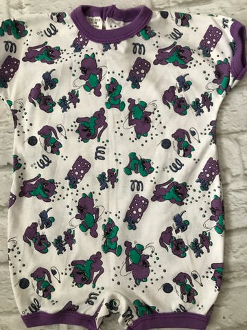 Age 18 Months Purple Cat Short Romper