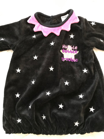 Age 3-6 Months Velour Bubble Hem Halloween Dress