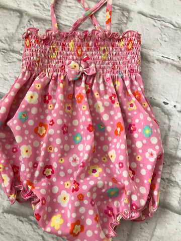 2-6 Months Pink Floral Swimming Costume