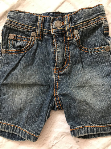 0-3 Months Denim Pumpkin Patch Shorts