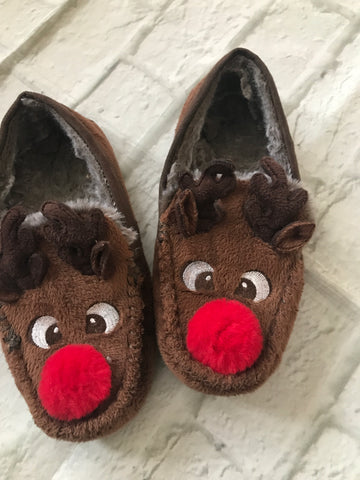 Size 1 Rudolf Slippers