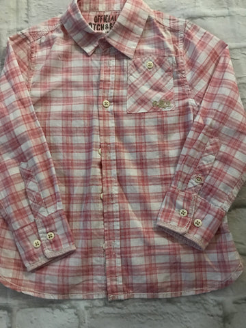 Age 4 Red Checked Long Sleeve Shirt