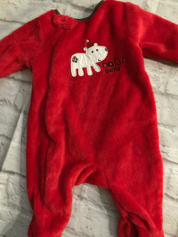 New Baby Mothercare Christmas Sleepsuit