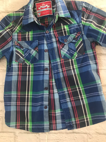 Age 7 Blue Check Long Sleeve Shirt