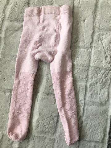 First Size Pink George Heart Tights
