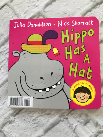 NEW Toddler Hippo Has A Hat Cardboard Book