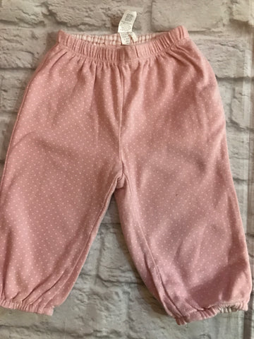 3-6 Months GAP Pink reversible spots and striped Joggers