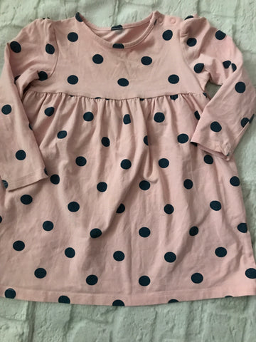 12-18 months Pink Spotty Long Sleeve Dress