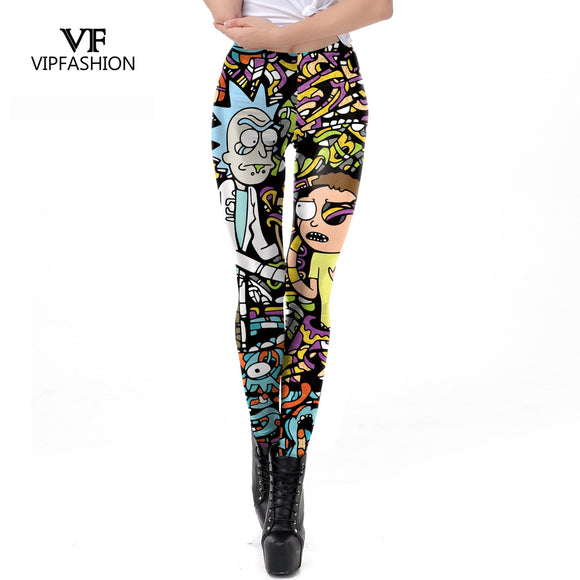 VIP FASHION  Rick And Morty Printed Leggings