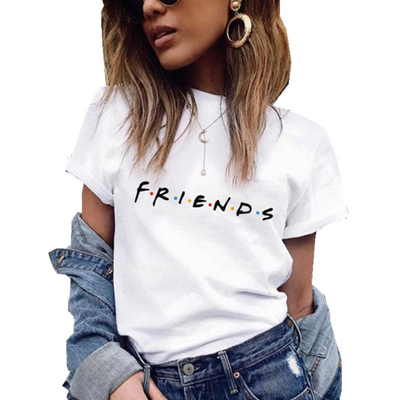 Friends Printing T Shirt   Leisure Top Tee