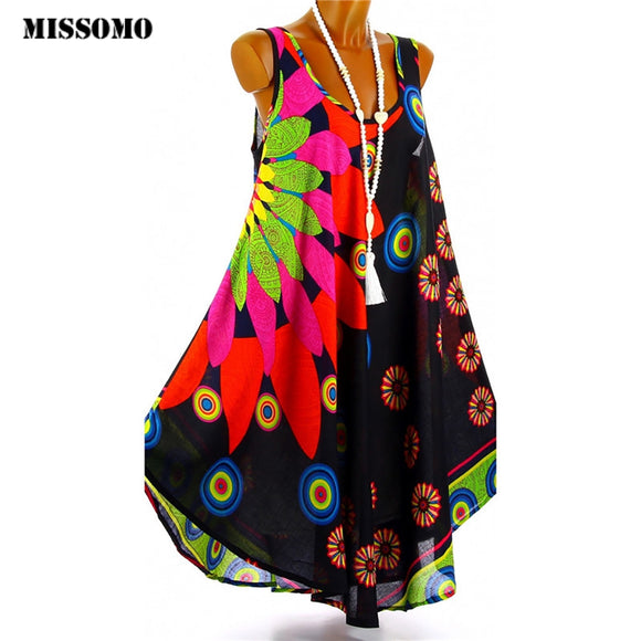 MISSOMO Boho  Printed Beach Dress