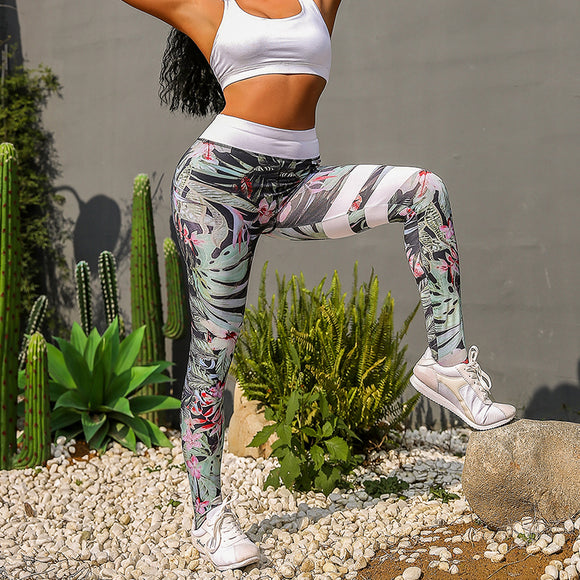 Rainforest print Gothic Legging Push Up