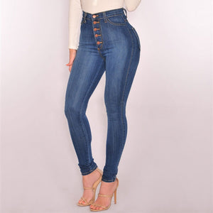 High Waist push up  Stretch l jeans
